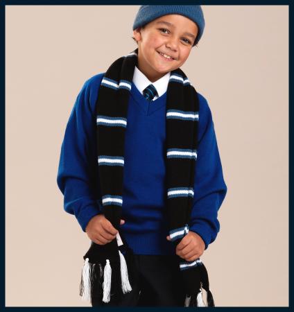 Scarves; Made to Order Scarves; Schoolwear; School Uniform; Knitwear; Charles Kirk